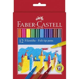 ROTULADORES 12 COLORES FABER-CASTELL