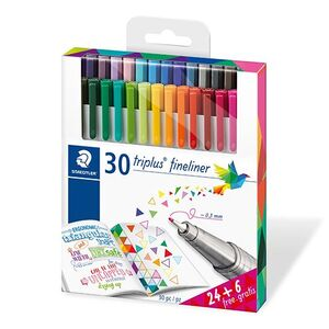 ROTULADORES 30 COLORES TRIPLUS FINELINER STAEDTLER 334 C30P