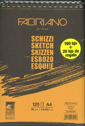 BLOCK ESBOZO A4 FABBRIANO
