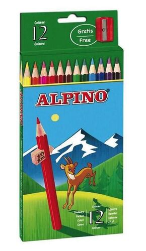 LAPICES 12 COLORES ALPINO