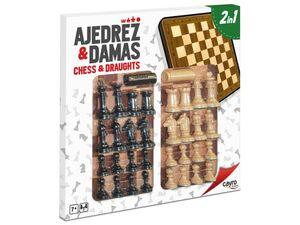 TABLERO AJEDREZ + DAMA MADERA CAYRO 094