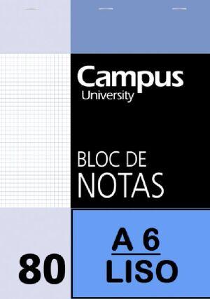 BLOCK NOTAS A6 LISO CAMPUS UNIVERSITY
