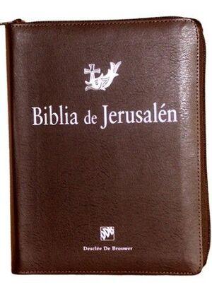 BIBLIA DE JERUSALÉN 4ª EDICIÓN MANUAL TOTALMENTE REVISADA - FUNDA DE CREMALLERA