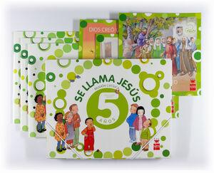 RELIGIÓN CATÓLICA, SE LLAMA JESÚS. 5 AÑOS