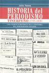 HISTORIA DEL PERIODISMO TINERFEÑO, 1758-1936
