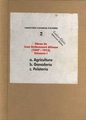 OBRAS DE BETHENCOURT ALFONSO (1847-1913) VOLUMEN 1