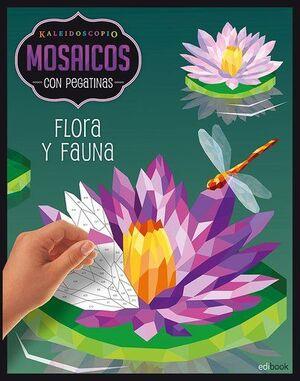 KALEIDOSCOPIO- MOSAICOS CON PEGATINAS ADULTOS- FLORA Y FAUNA
