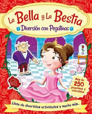 DIVERSIÓN CON PEGATINAS - LA BELLA Y LA BESTIA